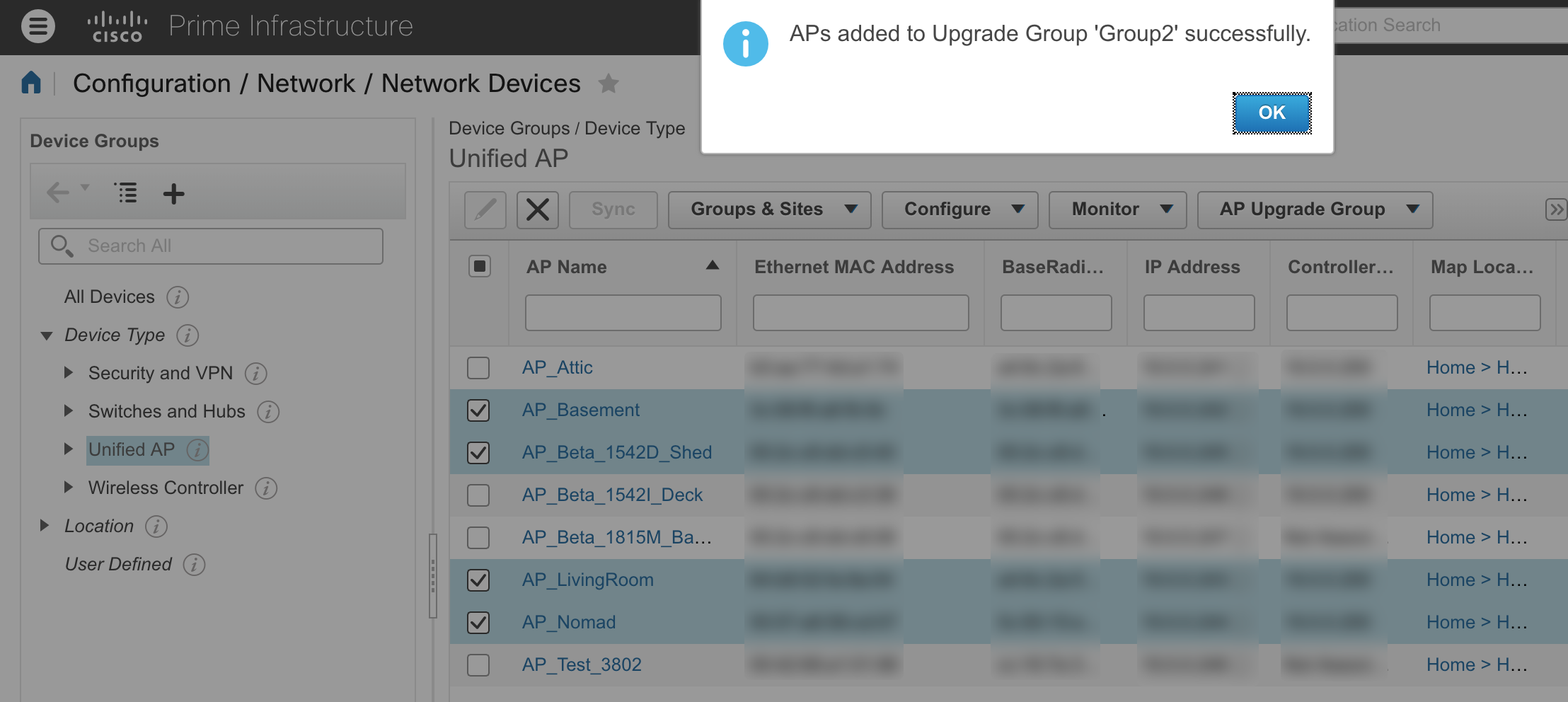 Rolling AP Upgrades with Cisco Prime Infrastructure 3 3