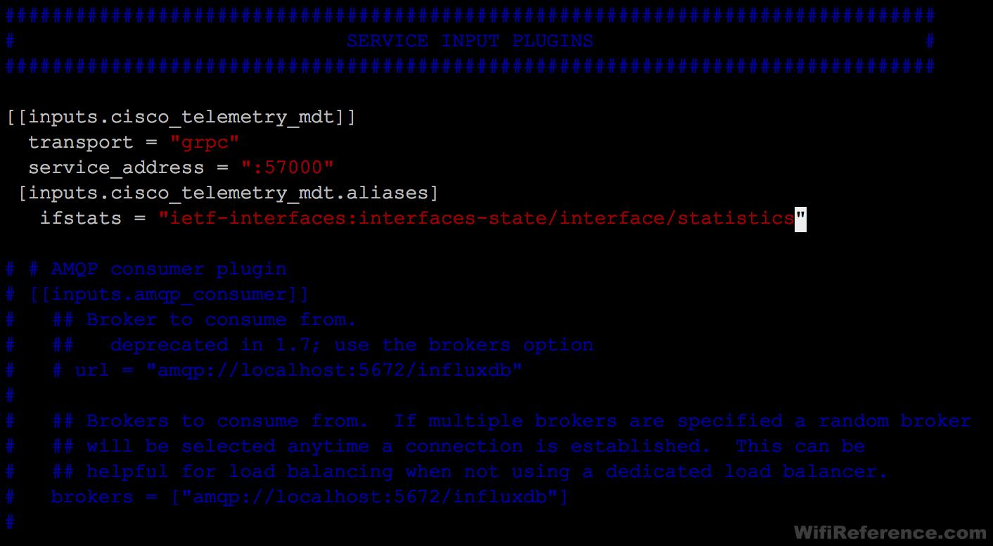 Telegraf.conf input plugin config