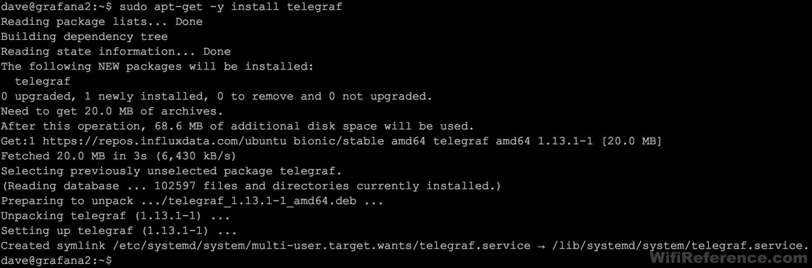 Install Telegraf