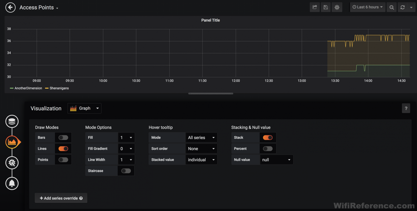 Grafana client count query 9