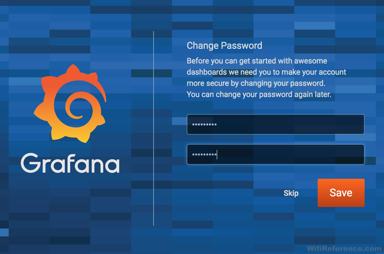 Grafana change password